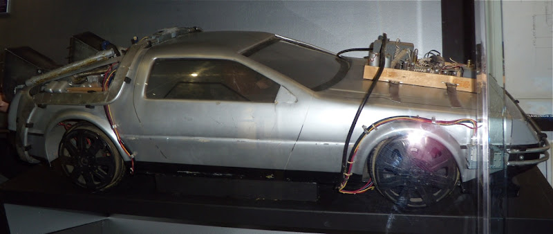 DeLorean car movie prop from Back to the Future