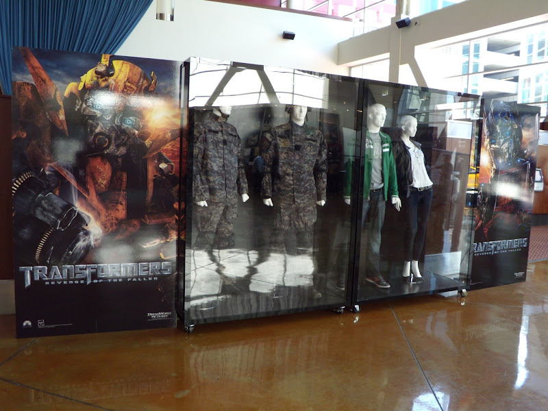 Original Transformers Revenge of the Fallen movie costumes display