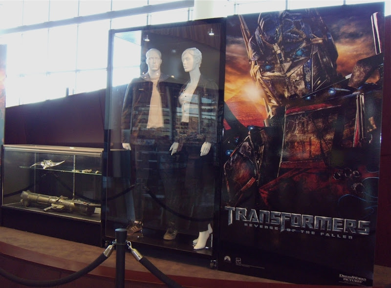 Transformers Revenge of the Fallen movie costumes and props display
