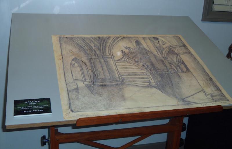 Dracula 1931 movie set concept drawing