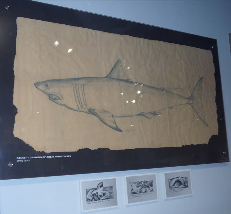 Concept drawing of Jaws Great White Shark