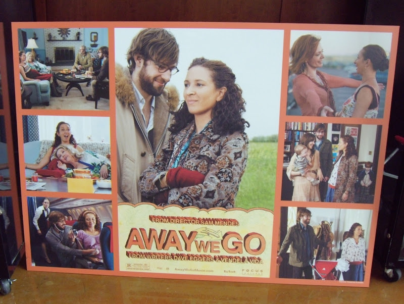 Original Away We Go film poster montage