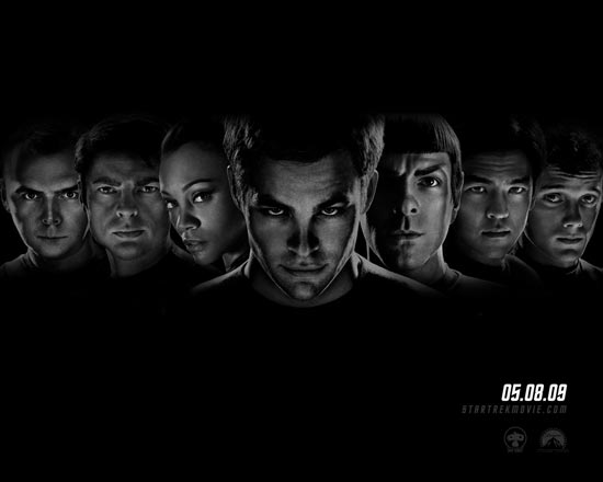 Star Trek cast faces poster