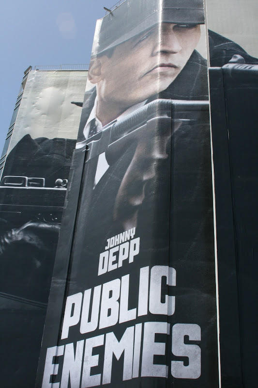 Johnny Depp Public Enemies film billboard