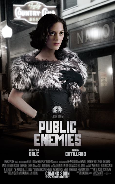 Marion Cotillard Public Enemies movie poster