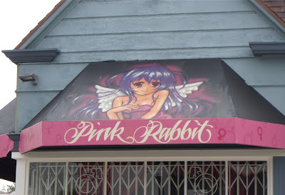 Pink Rabbit angel on Melrose Avenue