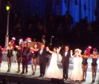 Guys and Dolls cast at Hollywood Bowl