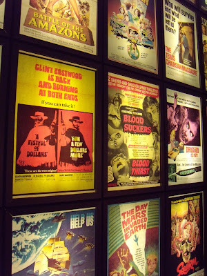 Classic pulp film poster wall display
