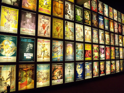 Pulp film poster wall at ArcLight Sherman Oaks