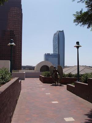 Downtown LA park angel