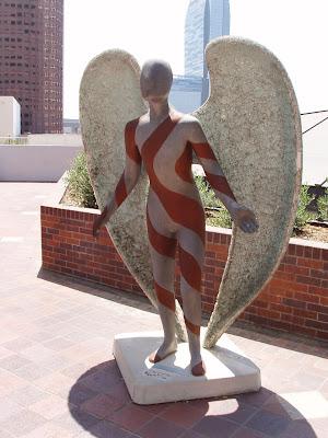 Downtown LA's Glittering Angel statue