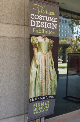 FIDM TV costume exhibition banner
