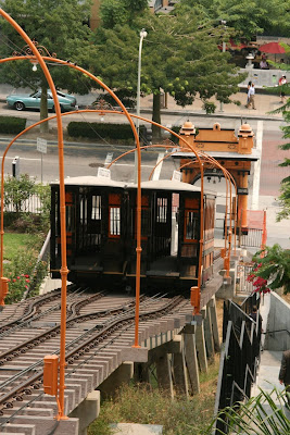 Angels Flight cable cars in Downtown LA