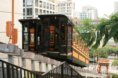 Angels Flight railway cars in Downtown LA