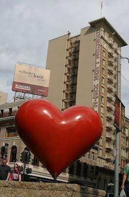 Hearts of San Francisco sculpture Union Square