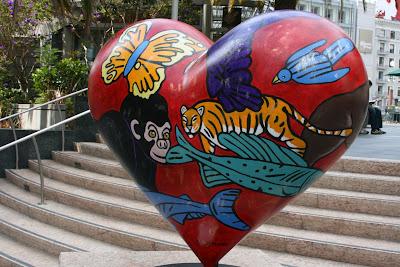 Love the Animal heart sculpture