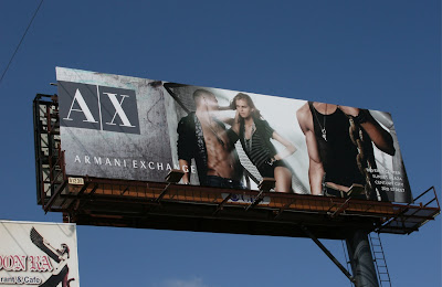 Armani Exchange fashion billboard