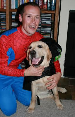 Spider-man Jason and Halloween Cooper