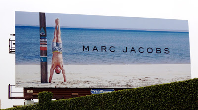 Fit Marc Jacobs male model swimwear billboard