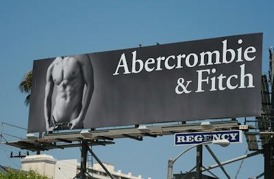 Hot male torso Abercrombie & Fitch billboard