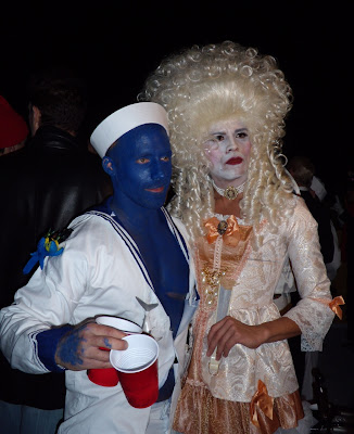 The blue sailor and the Duchess at West Hollywood Halloween Carnaval 2009