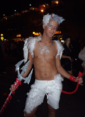 West Hollywood Halloween Carnaval angelic devil