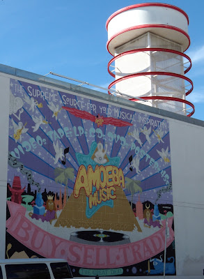 Amoeba music angel wall mural