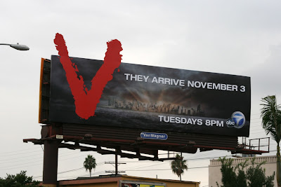 V sci-fi TV series billboard