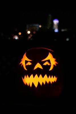 Carved Halloween lantern