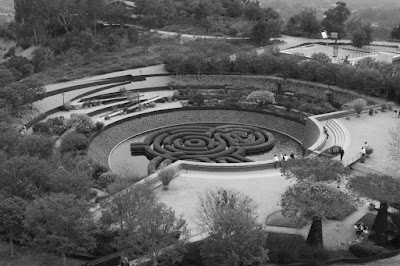 The Getty Center Central Garden in mono