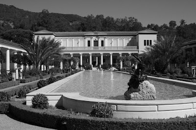 The Getty Villa, Malibu in mono
