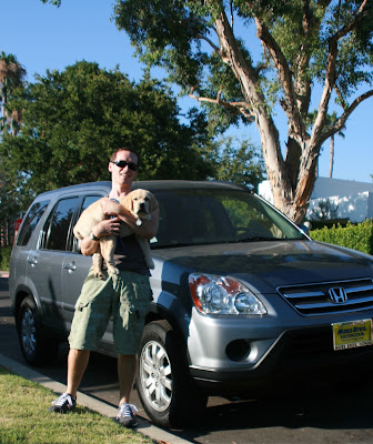 Cooper, Jason in Hollywood and his car