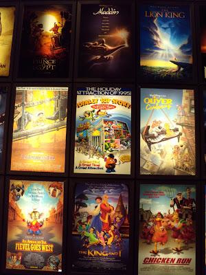 ArcLight Sherman Oaks cinema animated film poster display