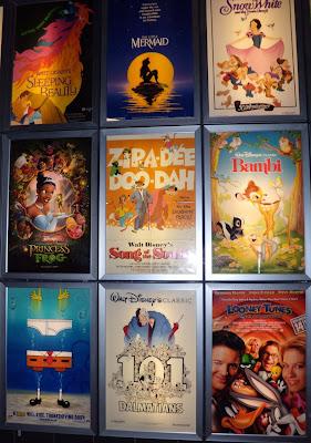 Cartoon film posters at ArcLight Sherman Oaks