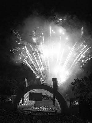 Fireworks in mono at Hollywood Bowl