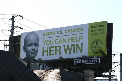 St Jude Cancer donation charity billboard