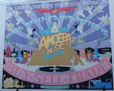 Amoeba Music wall mural angels