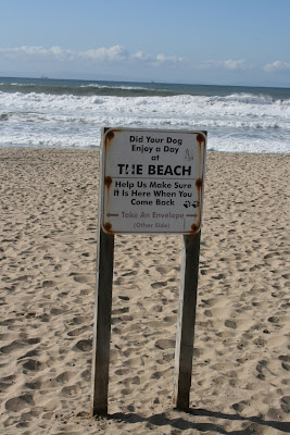 Huntington Dog Beach sign