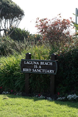 Laguna Beach bird sanctuary sign