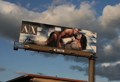 Hot male model Armani Exchange billboard