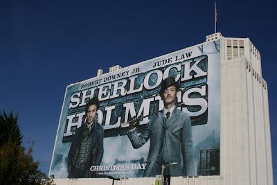Sherlock Holmes 2009 movie billboard