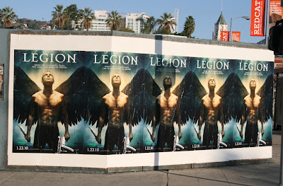 Legion film posters on Highland Avenue