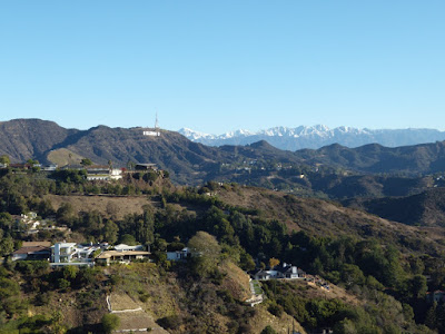 Snow-capped Los Angeles mountains