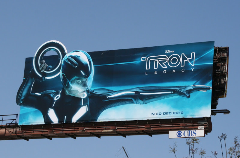 Tron Legacy movie billboard by day