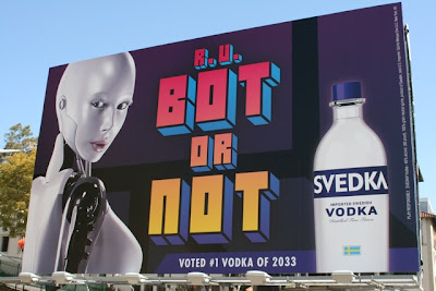 Svedka vodka Bot or Not billboard
