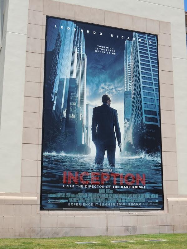 Inception Leonardo DiCaprio movie billboard