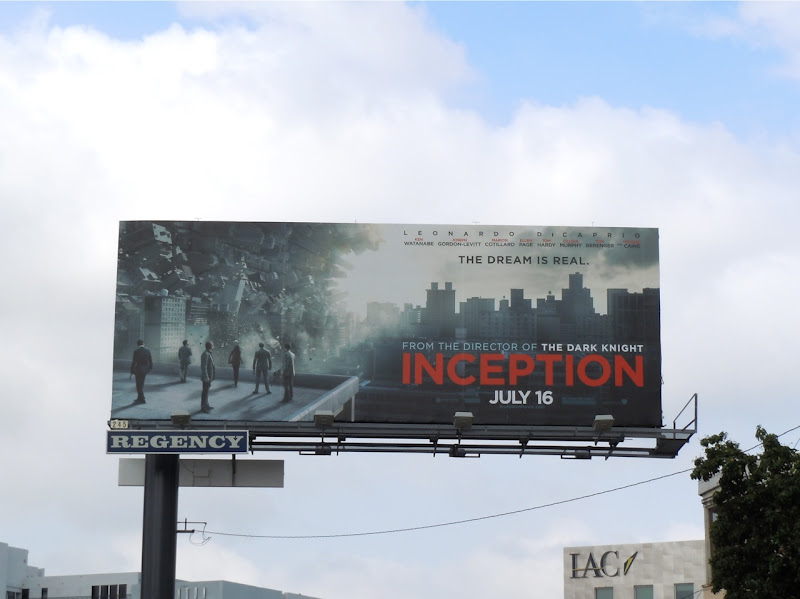 Inception movie billboard