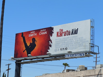 The Karate Kid movie billboard