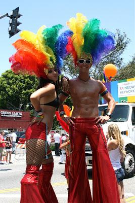 West Hollywood Gay Pride stiltwalkers 2010