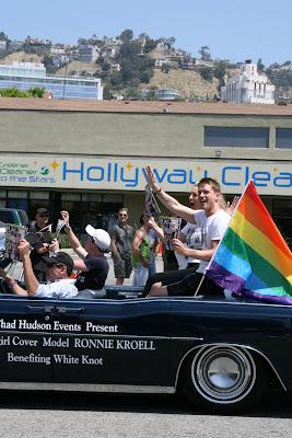 Gay model Ronnie Kroell WEHO Pride 2010
